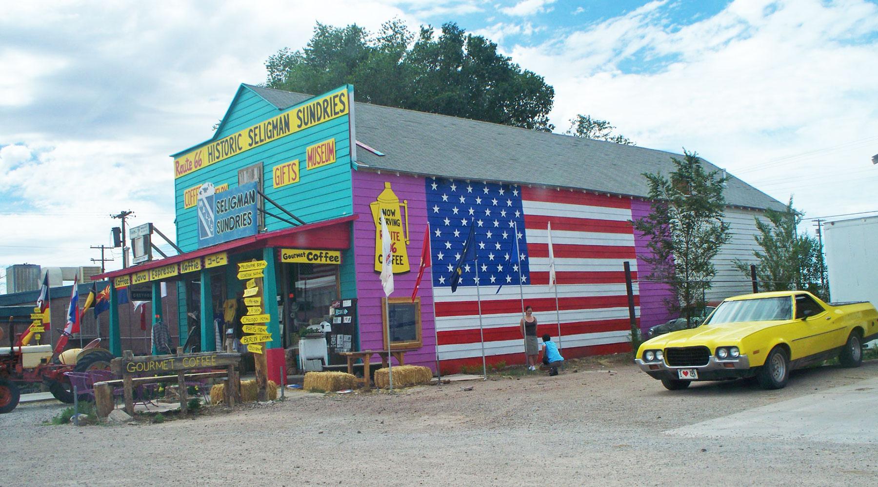 Seligman_sundries, route 66, États-Unis, Chinook voyage, aventure,