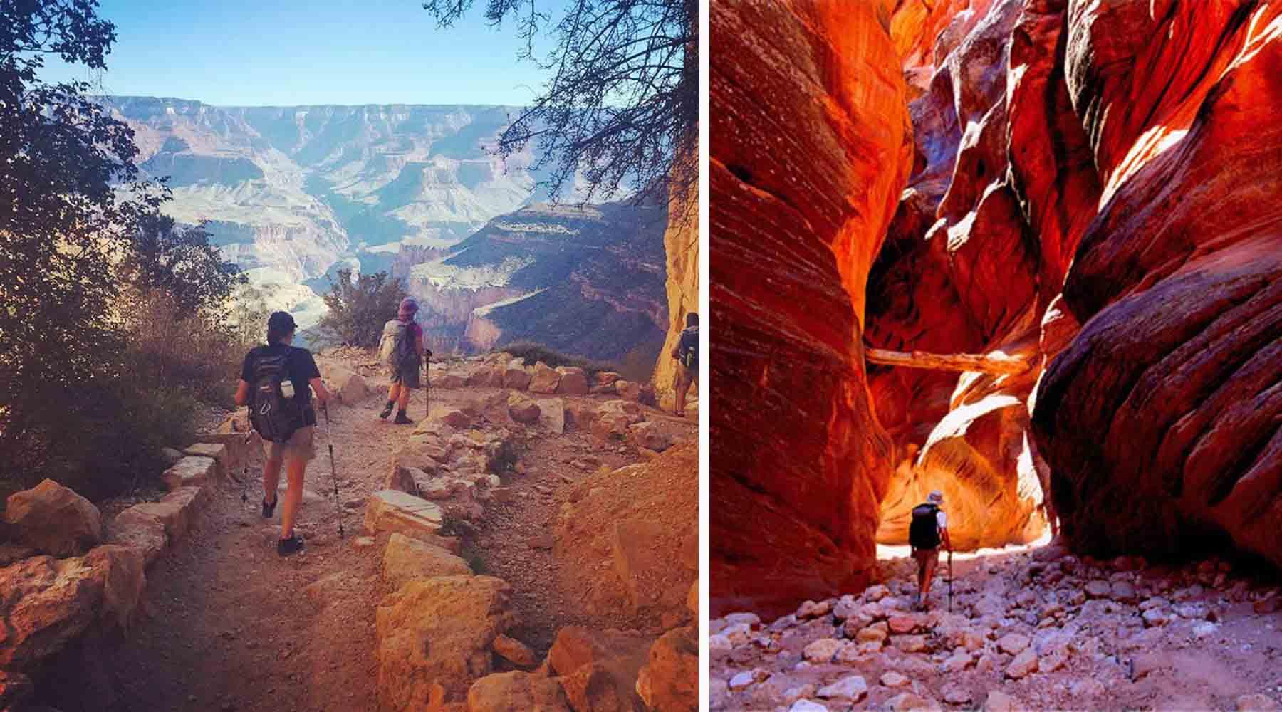 grand canyon, marche, rando, chinook, voyage