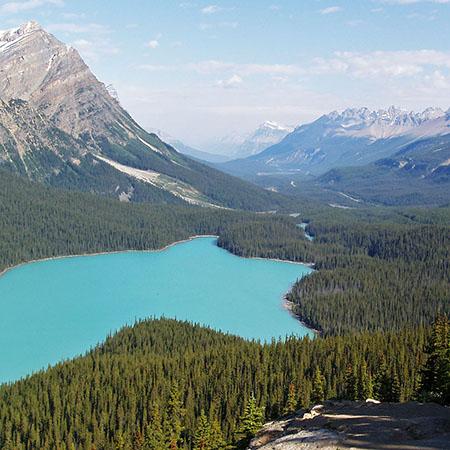 Rocheuses canadiennes en randonnée pédestre avec Chinook Aventure