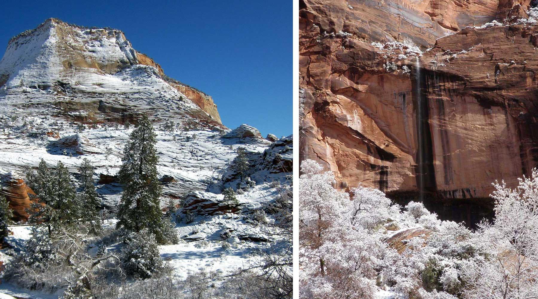 Zion, Zion,-Angels-Landing-Grands parcs de l'ouest en hiver, zion, grand canyon, bryce canyon, monument vallée, monument valley, las vegas, chinook voyage, aventure, randonnée
